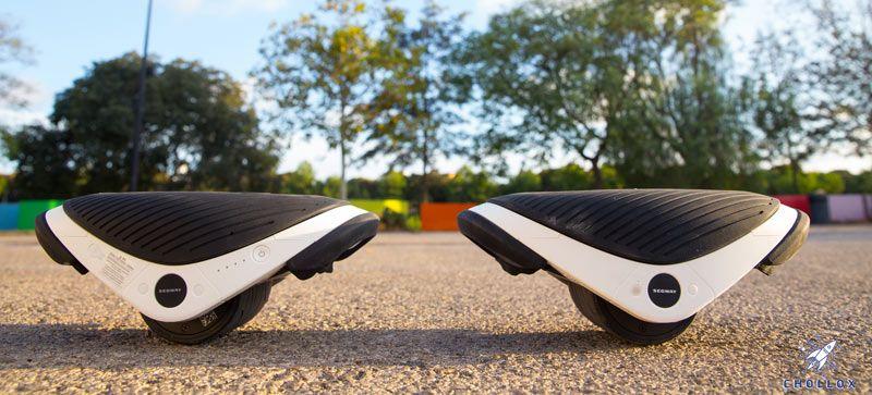 Patines Segway Drift W1 sobre asfalto