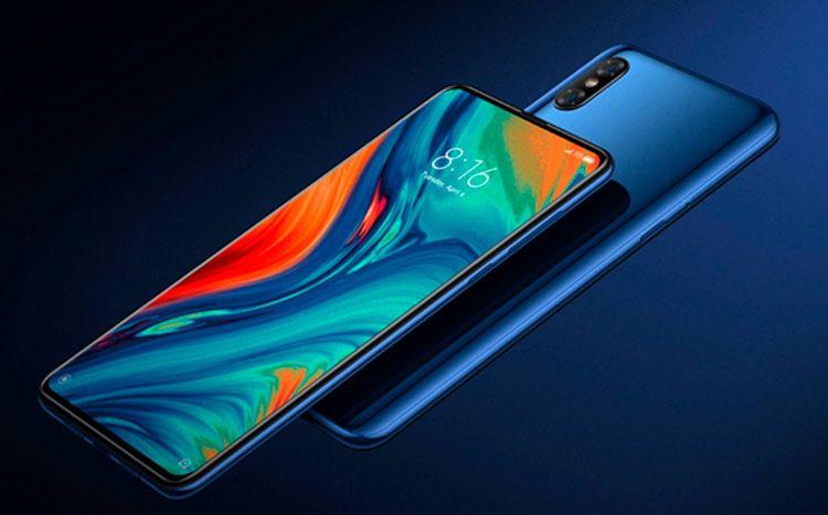 Xiaomi Mi Mix 3 Azul pantalla y parte trasera
