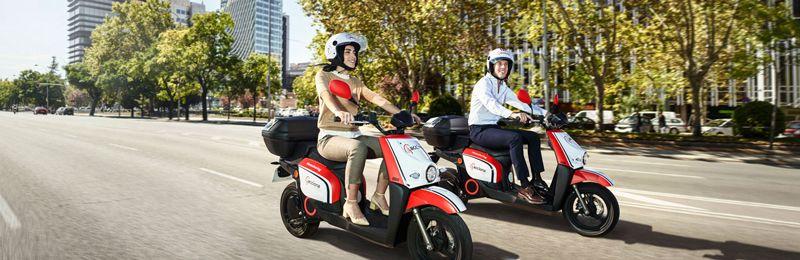2 Motos Acciona Motosharing en marcha