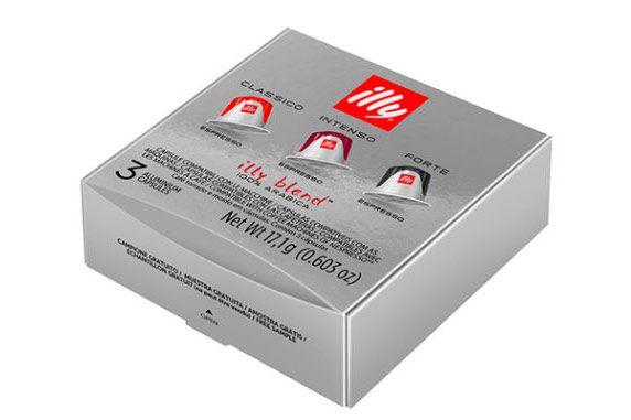 Caja con cápsulas gratis Illy Nespresso