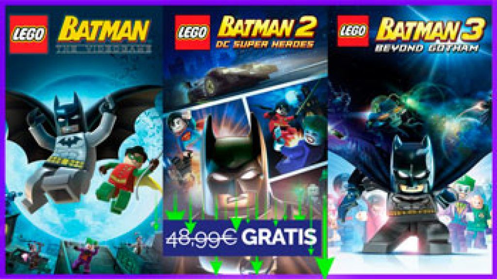 LEGO Batman Trilogy Pack gratis en CHOLLOX
