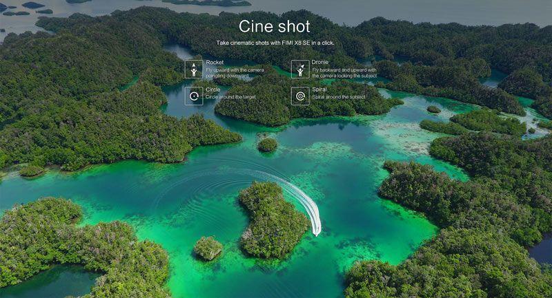 Modos de disparo en modo cine Xiaomi Fimi X8 SE